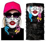 inGun Tour de Cou Multifonction Logo Tête de Mort Design en Polyester Skull Cache Cou Foulard Écharpe pour Motards ou Airsoft Masque Chapeaux Bandana Bandeaux Masque Moto (Harley Quinn)