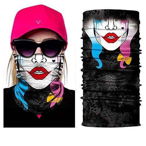 InGun© Haarband, Halstuch, Design-Multifunktionstuch, aus Polyester, Schädelmotiv, Halstuch, -