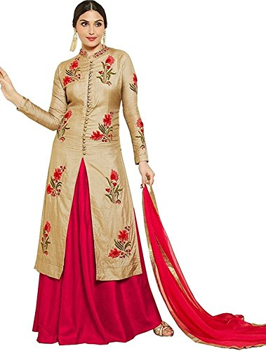 Feni Creation Heavy Embroidery Work By Cotton Top With Duppta And Bottom And One Stiched Lehnga