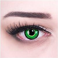 Meralens Green Werewolf Kontaktlinsen mit Behälter ohne Stärke, 1er Pack (1 x 2 Stück)