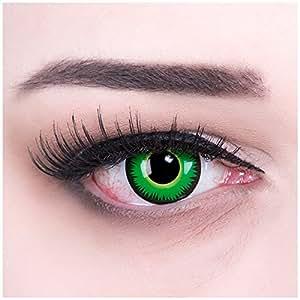 Meralens A0390 Green Werewolf Kontaktlinsen mit Behälter mit Stärke, 1er Pack (1 x 2 Stück)