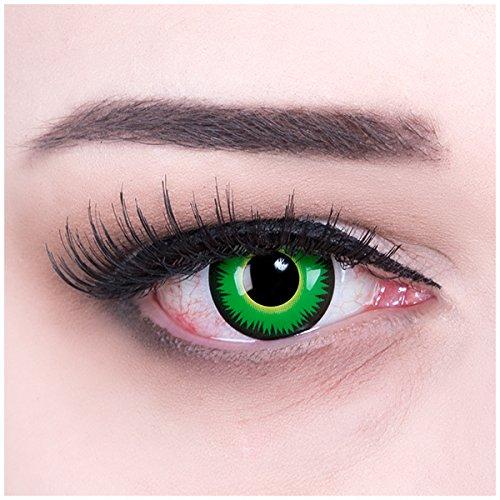 olf Kontaktlinsen mit Behälter ohne Stärke, 1er Pack (1 x 2 Stück) (Haloween Kontaktlinsen)