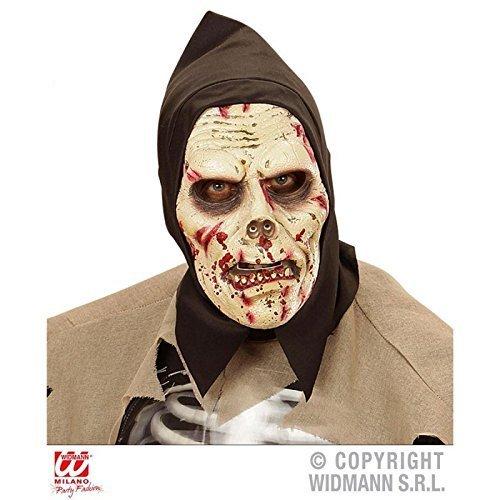Maschera di lattice di gomma piuma darkness Zombie con cappuccio / Halloween / Accessori costume - Piuma Maschera Di Halloween Costume