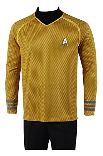 Star Trek Into Darkness Captain Kirk Hemd Shirt Uniform Cosplay Kostuem Gelb (Original Star Trek Kostüme)