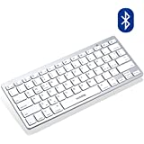 VicTsing Tastiera Bluetooth Wireless Tablet Ultrasottile - Inclinazione Naturale - Layout Italiano, Compatibile con iOS/Android/Windows, Tablet HP LG Xiaomi Huawei [Argento]