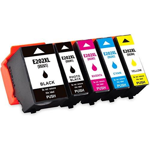 Preisvergleich Produktbild Kingway Ersatz für Epson 202XL Druckerpatronen arbeiten mit Expression Premium XP-6000 XP-6005 6 Stück (1 Schwarz, 1 Foto Schwarz, 1 Cyan, 1 Magenta, 1 Gelb)