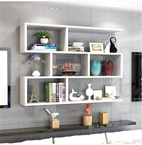 Baiyun flyin scaffali a muro scaffali a 3 piani vetrine ufficio soggiorno camera da letto mensole a muro moderno minimalista (colore : bianca)