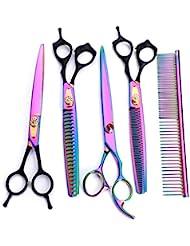 Cvthfyk Professional Barber Hair Cutting Scissors/Shears (8Inch) - Dental Scissors/Bending Scissors Shear Hair Cutting (Color : Color)
