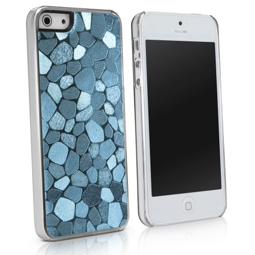 BoxWave LuxePave iPhone 5 Case - Hybrid Hard Plastic Mosaic Pattern Girly Case Cover with Shimmer Shiny Mosaic Design - Apple iPhone 5 Cases and Covers (Teal)