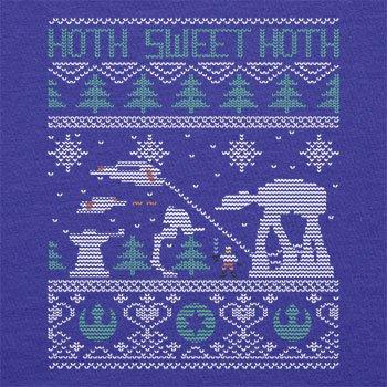 TEXLAB - Knitted Hoth Fight - Herren Langarm T-Shirt Marine