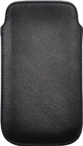 Cellux Kunstleder Tasche Größe XL (Galaxy SIII, S4, Nokia 625/900/925, Blackberry Z10, HTC One, LG Optimus 4X HD, Huawei Ascend G510/ P6 und weitere Geräte) schwarz