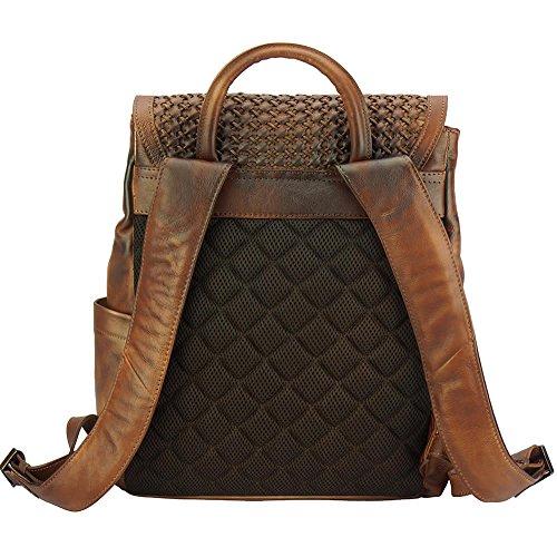 Rucksack aus Italien vintage Nicola aus kalbsleder Braun qxqSWARHTw