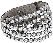 SWAROVSKI Women's Leather Look Crystal Power Bracelet Collec