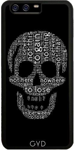 DesignedByIndependentArtists SilikonHülle für Huawei P10 - Schädel Aus Wörtern by UtArt
