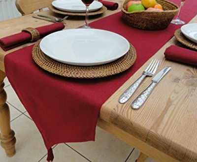 """14x98"""" Wine Table Runner With Tassels (8 seater)"""