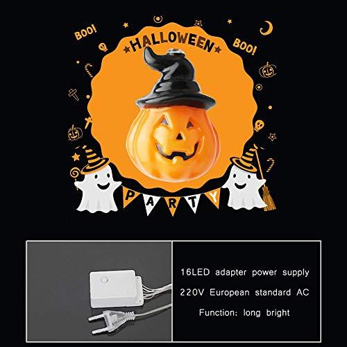 Themen Party Schule Kostüm - Halloween Pumpkin String Lights,Kürbis Lichterketten für Halloween Dekorationen Lichter 3D Cosplay,Thema Parteien und Dekoration,for Christmas,Festival Party,Home Bedroom Decoration DIY,16ledwithplug