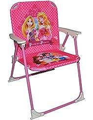 stabiler + leichter - Campingstuhl / Klappstuhl - Disney Prinzessin Princess Rapunzel - aus Metall mit Stoff bezogen - für circa 1 - 5 Jahre - faltbar zusammenklappbar - Stuhl für Kinder Kind - Mädchen Reise / Garten / Zimmer - Kinderklappstuhl