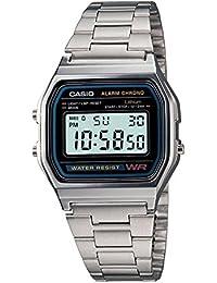 Casio -Armbanduhr Quarz Edelstahl A158