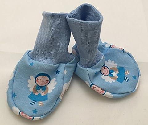 Baby-Schuhe kleiner Schutzengel hellblau ca. 0-6 Monate