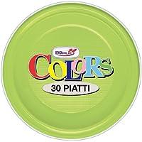 Doplà Platos Llanos, 30 Unidades, Color Verde ácido