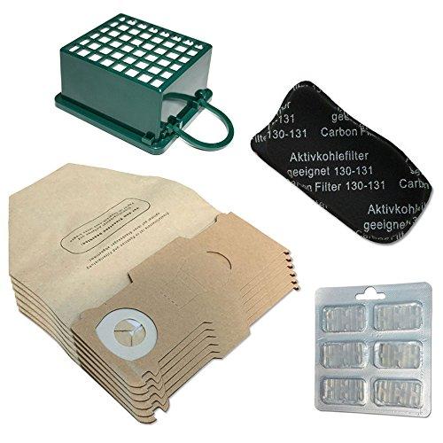 Kit 6Beutel/Taschen + 6PROFUMINI + Filter HEPA/EPA + Geruch Filter für Staubsauger Vorwerk Kobold VK 130, 131SC, VK130, VK131 - Hepa-staubsauger, Taschen
