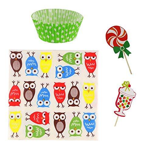 1 Ea Pack (Koehler Owl Cupcake Party Pack (pack of 1 EA))