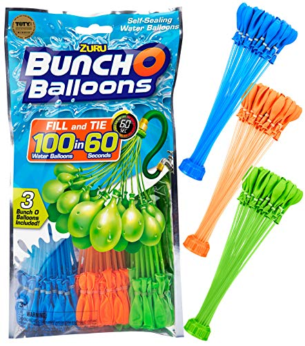 ons - 105 Stück / 100 in 60 Sekunden / selbstschließend / WASSERBALLONS / 3 Bündel á 35 Wasserbomben / Water Balloons Seal / SELF Seal / Mixed ()