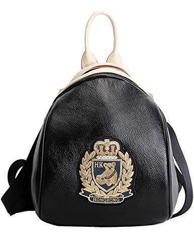Menschwear Donne Vera Pelle Scuola Borsa Casual Borsa Zainetto Argento Oro