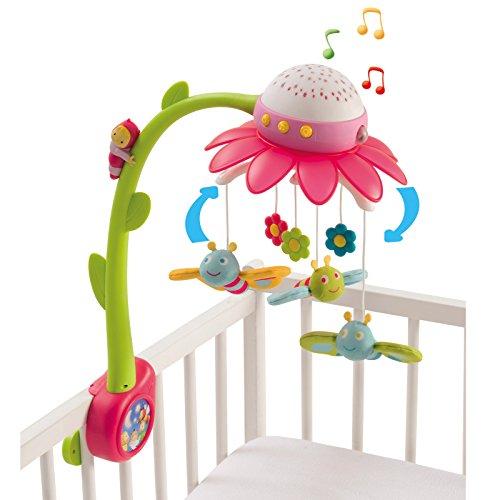 Unbekannt Motorbetriebenes Musikmobile mit Licht und 4 verschiedenen Melodien • Baby Mobile Musik Spieluhr Spielzeug