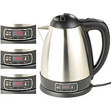 Rosenstein & Söhne Teekocher: Edelstahl-Wasserkocher mit Temperatur-Wahl, 1,8 Liter, 1.800 Watt (Wasserkocher mit Temperaturwahl)