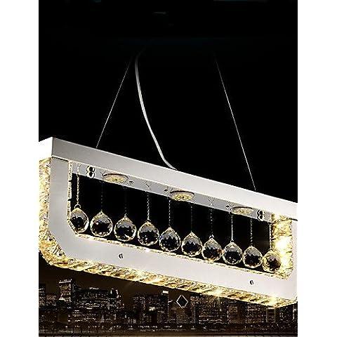 ZHY Lampadario di cristallo di apparecchi di illuminazione da soffitto pendente pendente luci Led luci di Droplight barra rettangolare giallo , Luce bianco caldo