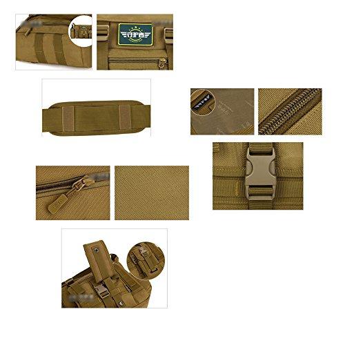 YAAGLE A 4 Schultasche groß Fassungsvermögen Reisetasche wasserdicht Herren IPAD Kuriertasche 14 zoll Laptoptasche Schultertasche Tarnung 2