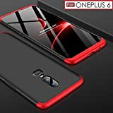 #4: Premium Back Case For OnePlus 6 – WOW Imagine 3 in 1 Double Dip Case [ Anti Slip ] Super Slim [Hard] Hybrid PC All Angle Protection Lightweight Matte Hard Back Case Cover For 1+6 One Plus OnePlus 6 - Black with Red