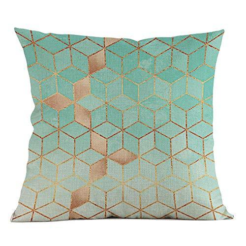 VJGOAL Moda impresión geométrica cómoda Almohada Cintura Cuadrado Funda de cojín sofá decoración...