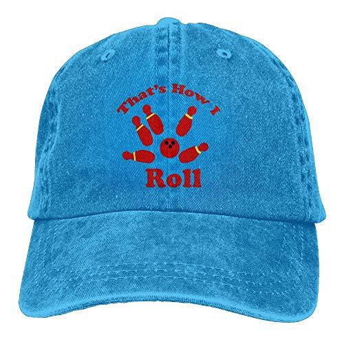 That's How I Roll Bowling Denim Hat Adjustable Womens Classic Baseball Caps