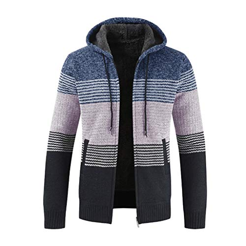 Maglione uomo cappotto inverno elegante collo con cerniera maniche lunghe felpa con cappuccio hoodie distintivo sweatshirt camicetta dolcevita classico tops qinsling