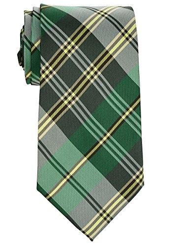 Retreez elegante de cuadros escoceses Tejido microfibra 3.15'hombres de la corbata Verde verde Talla única