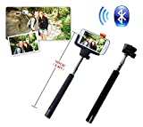 Z07-5 Plus Celular Extendable Handheld Selfie Stick Monopod Camera Black