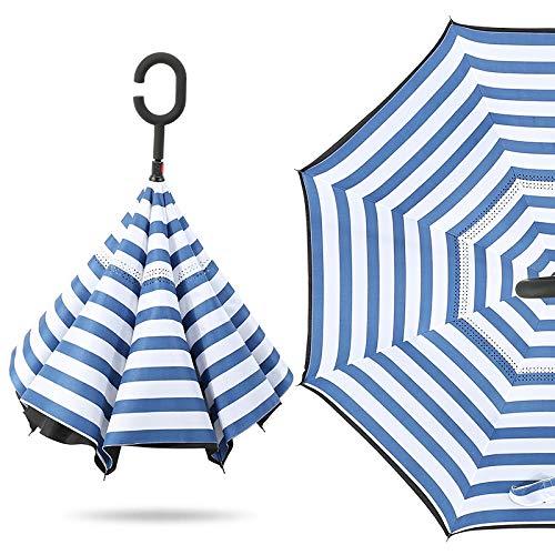Sombrilla Paraguas Recto De Dos Pisos Paraguas Sin