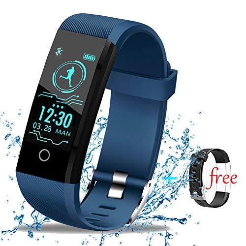 LIGE Fitness Tracker Braccialetto Intelligente Impermeabile, Pedometro con  Contacalorie, Activity Tracker con Cardiofrequenzimetro,