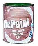 McPaint Wetterschutzfarbe – Holzfarbe für außen auf Acryl Basis mit langanhaltendem Wetterschutz, PU-verstärkt, Möbellack, seidenmatt, 0,750L, Moosgrün - Weitere Farbtöne verfügbar