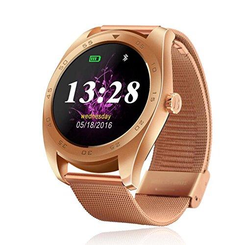 Human K89 Intelligente Uhr Bluetooth Sport Schrittzähler Telefon Informationen Wecker Erinnerung Wasserdichte Uhr,Gold