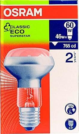 osram lot de 2 ampoules halog nes r63 basse consommation pour spot es e27 42 w. Black Bedroom Furniture Sets. Home Design Ideas