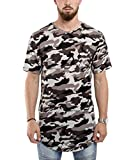 Blackskies Oversize Round T-Shirt Camo Midnight Herren Camouflage Longshirt - XL