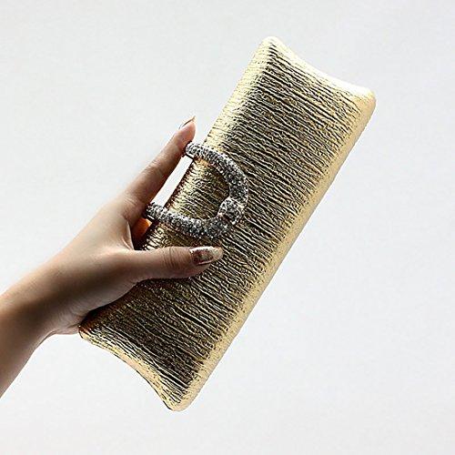 YYW Evening Bag, Poschette giorno donna Champagne