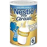 Nestlé p'tite céréale saveur biscuité 400g dès 6 mois - ( Prix Unitaire ) - Envoi Rapide Et Soignée