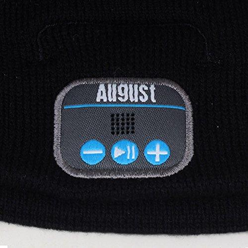 bonnet bluetooth avec casque st r o int gr microphone kit main libre et batterie id e. Black Bedroom Furniture Sets. Home Design Ideas