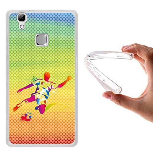 WoowCase Doogee X5 Max Hülle, Handyhülle Silikon für [ Doogee X5 Max ] Fußballspieler mit Fußball Multifarbig Handytasche Handy Cover Case Schutzhülle Flexible TPU - Transparent