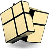 LEVEL25 Cubo tipo Rubik 2x2x2 Mirror, cube 2x2, dorado, regalo original