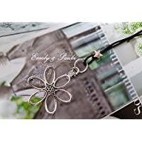Wechselkette mit WechselAnhänger Blume echtes Leder schwarz Stern Metallperle LederKette Bettelkette Lederkordel